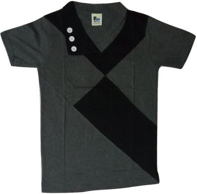 nakoda diksha Solid Men's V-neck Multicolor T-Shirt