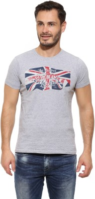 Pepe Printed Men's Round Neck Grey T-Shirt