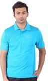 Fitsoul Solid Men's Polo Neck Blue T-Shi...