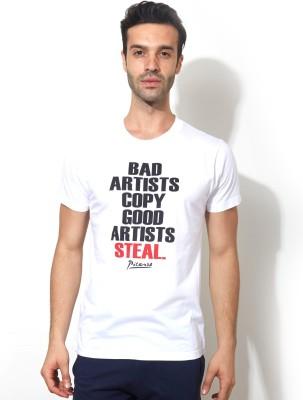 Smugglerz Graphic Print Men's Round Neck White T-Shirt
