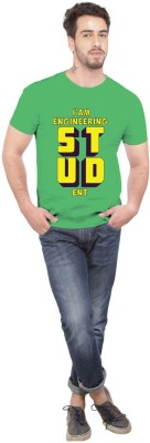 Beer Studio Printed Men's Round Neck Green T-Shirt