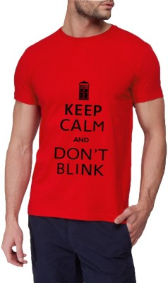 13th Avenue Graphic Print Men's Round Neck Red T-Shirt