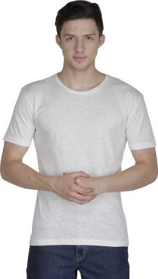 Sass Embellished Men's Round Neck White T-Shirt