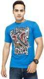 Yuva Printed Men's Round Neck Blue T-Shi...
