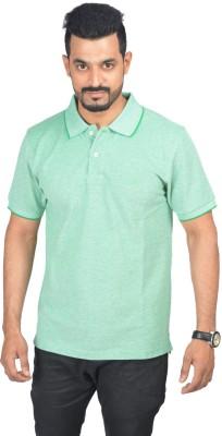 Woodside Solid Men's Polo Light Green T-Shirt