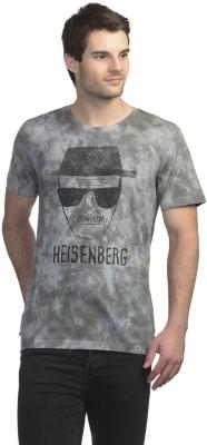 Breaking Bad Printed Men's Round Neck Grey T-Shirt