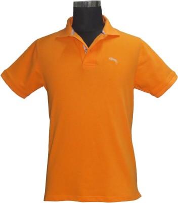 JUMP USA Solid Men's Polo Orange T-Shirt