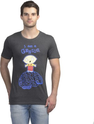 Family Guy Printed Men's Round Neck Grey T-Shirt