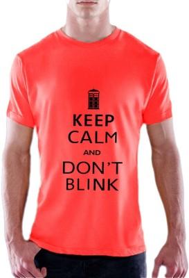 13th Avenue Graphic Print Men's Round Neck Pink T-Shirt