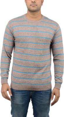 Blue Heaven Striped Men's Round Neck T-Shirt