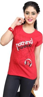 Entrap Printed Women,s Round Neck T-Shirt