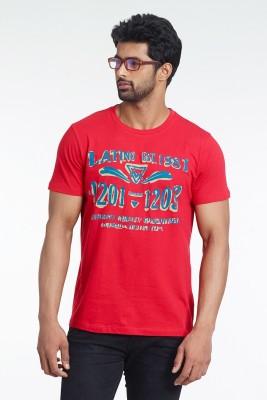 Fashnopolism Solid Men's Round Neck Red T-Shirt