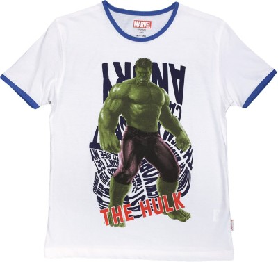 Hulk Printed Boy's Round Neck T-Shirt