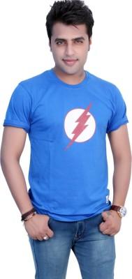 Filimore Printed Men's Round Neck Blue T-Shirt