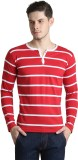 Bigidea Striped Men's Henley Red, White ...