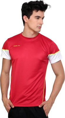 Dida Sportswear Solid Men's Round Neck Red T-Shirt
