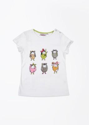 Nauti Nati Printed Girl's Round Neck T-Shirt