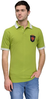Canary London Solid Men's Polo Green T-Shirt