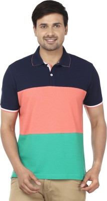 Ruse Solid Men's Polo Pink, Blue T-Shirt