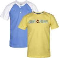 Gini & Jony Boys Solid(Yellow) best price on Flipkart @ Rs. 359