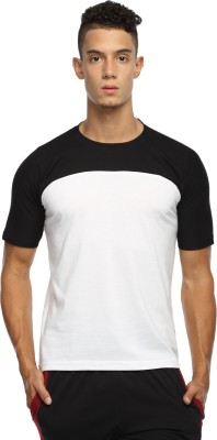 Happy Hours Solid Men's Round Neck Black T-Shirt