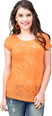 URBANTRY Self Design Women's Round Neck T-Shirt
