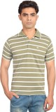 Skylark Striped Men's Flap Collar Neck L...