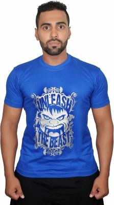 Boxrox Fitness Printed Men's Round Neck T-Shirt