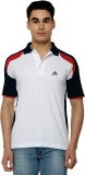 Canyons Solid Men's Polo Neck White T-Sh...