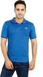 7 Beyond Printed Men's Polo Neck Blue T-...