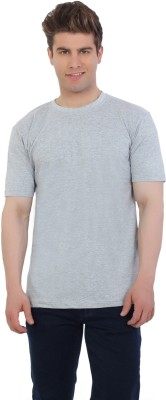 EETEE Solid Men's Round Neck Grey T-Shirt