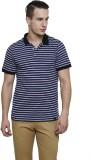 Rigo Striped Men's Polo Neck Dark Blue T...