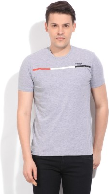 Easies Solid Men's Round Neck Grey T-Shirt