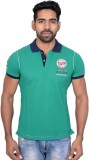 Being Dessi Solid Men's Polo Neck Green ...