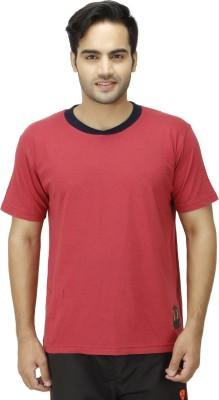 1OAK Solid Men's Round Neck Maroon T-Shirt