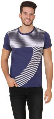 Cherymoya Solid Men's Round Neck Blue T-Shirt