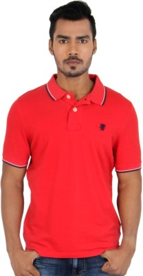 Killer Solid Men's Polo Neck Red T-Shirt
