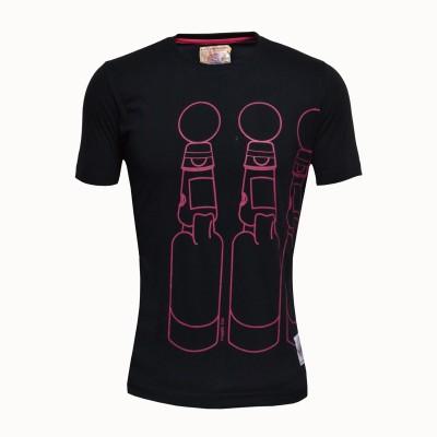 Duke Printed Men's Round Neck Black T-Shirt