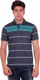 Venetian Striped Men's Polo Neck Grey, G...