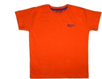 Little Stars Boys Solid T Shirt(Orange, Pack of 1)
