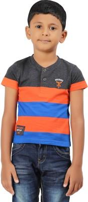 Ventra Printed Boy's Henley Multicolor T-Shirt