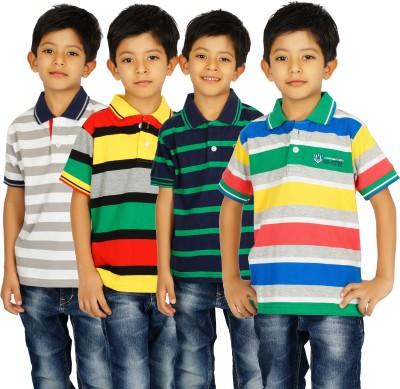 Shaun Striped Boy's Polo Multicolor T-Shirt