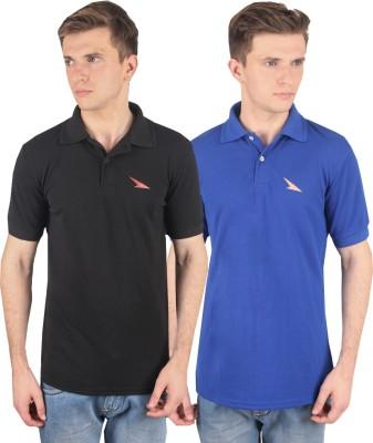 PRO Lapes Solid Men's Polo Neck Multicolor T-Shirt