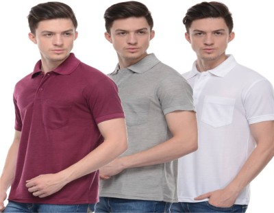 Rose Taylor Solid Men,s Polo Multicolor T-Shirt