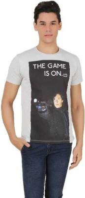 Sherlock Holmes Printed Men's Round Neck Grey T-Shirt