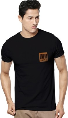 Kavit Hub Graphic Print Men,s Round Neck Black T-Shirt
