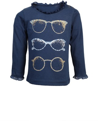 KARROT by Shoppers Stop Printed Baby Boy's Round Neck Dark Blue T-Shirt