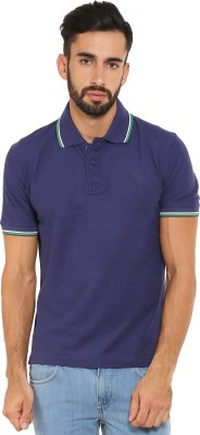 Classic Polo Solid Men's Polo Neck Blue T-Shirt