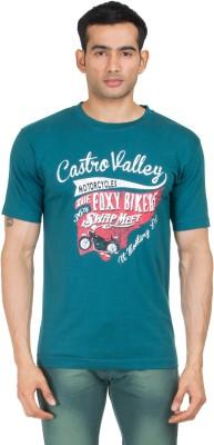 Winfield Printed Men's Round Neck Green T-Shirt