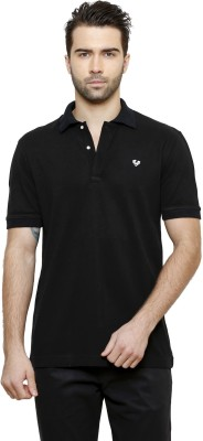 Desinvolt Printed Men's Polo Black T-Shirt